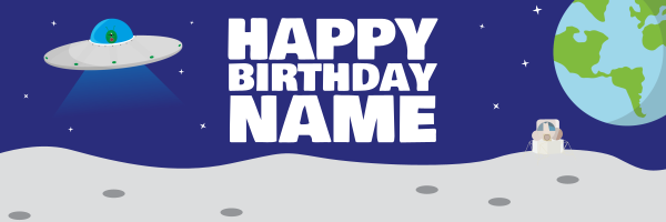 Personalised+Space+Birthday+Banner - design template - 944