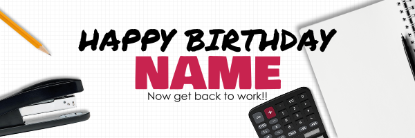 Work+Theme+Personalised+Birthday+Banner - design template - 945