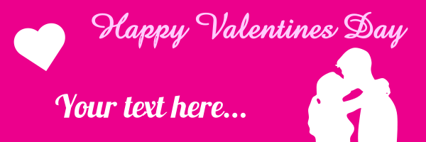 Personalised+Happy+Valentines+Day+Banner+Kissing - design template - 95