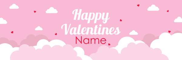 Personalised+Cloudy+Valentines+Day+Banner - design template - 952