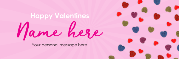 Custom+Sweet+Treat+Valentines+Banner - design template - 954