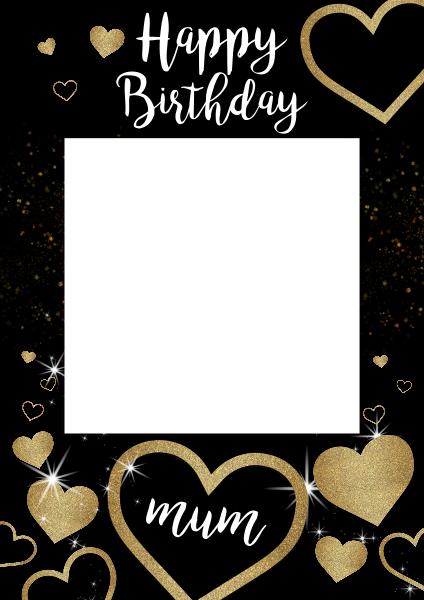 Custom+Gold+Glitter+Heart+Selfie+Frame - design template - 960