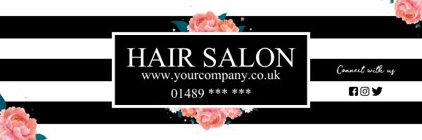 Custom+Striped+Hair+Salon+Banner - design template - 965