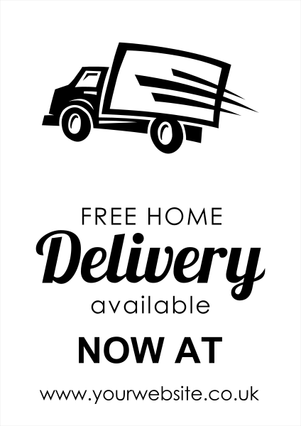 Custom+Free+Delivery+Poster - design template - 989